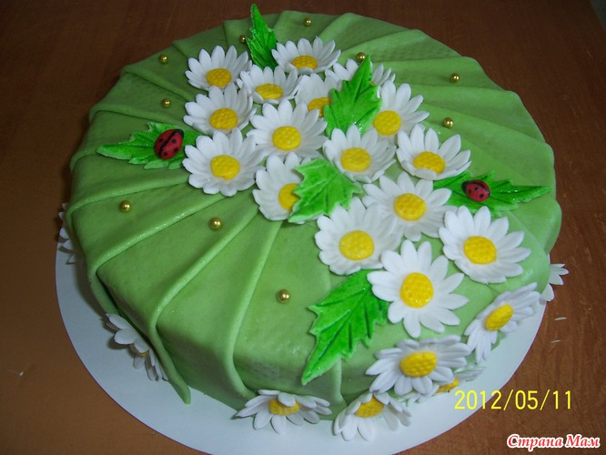 Торт ромашка своими руками 49