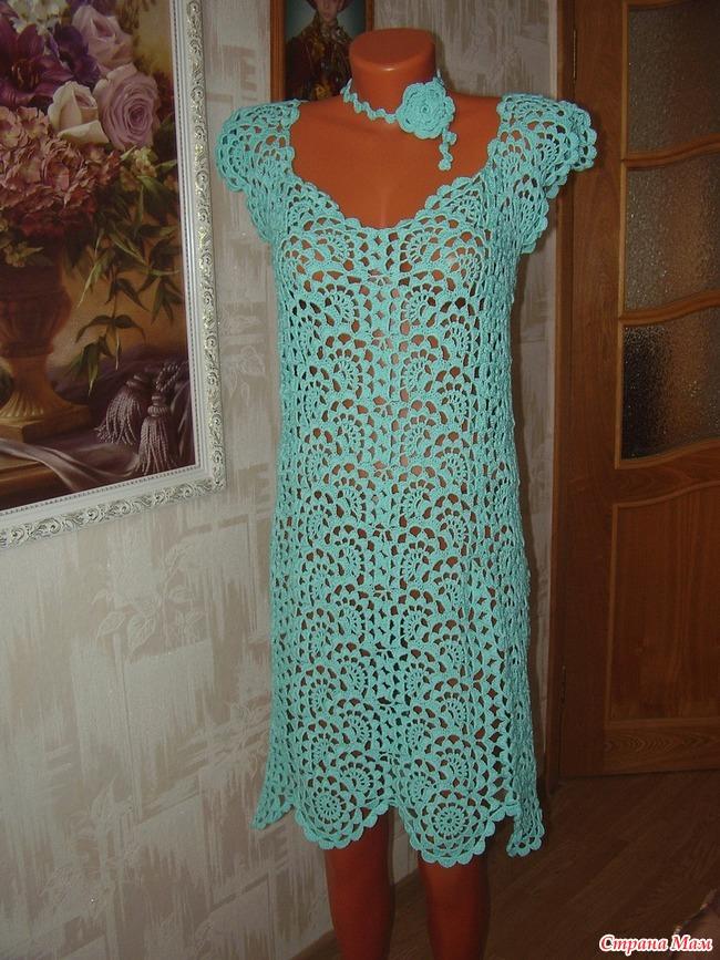 Вязание крючком платье из ленточного кружева крючком 169