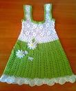 вязание схема детский сарафан. платье для девочки вязаное крючком на 1.