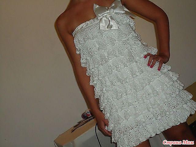 Вязание платья крючком