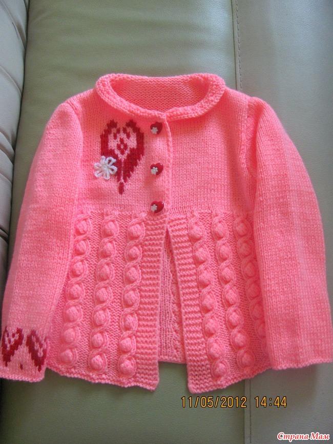 Вязание кофт для девочек страна мам