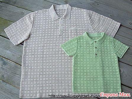 Вязанная рубашка для мальчика