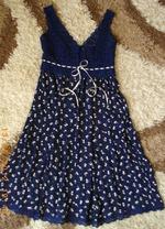 Вязание крючком платья с тканью 920