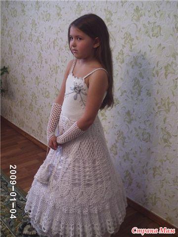 Страна мам вязаное крючком платье для принцессы