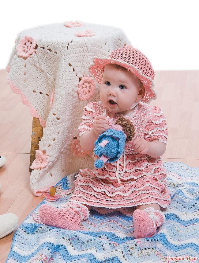 Вязание спицами девочкам до 1 года
