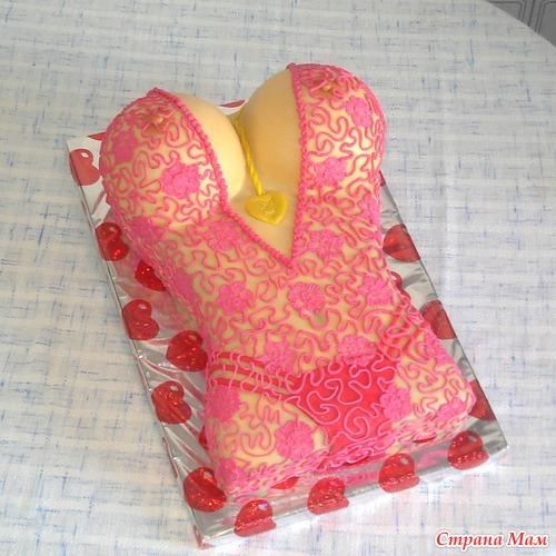 Торт женский бюст фото мк