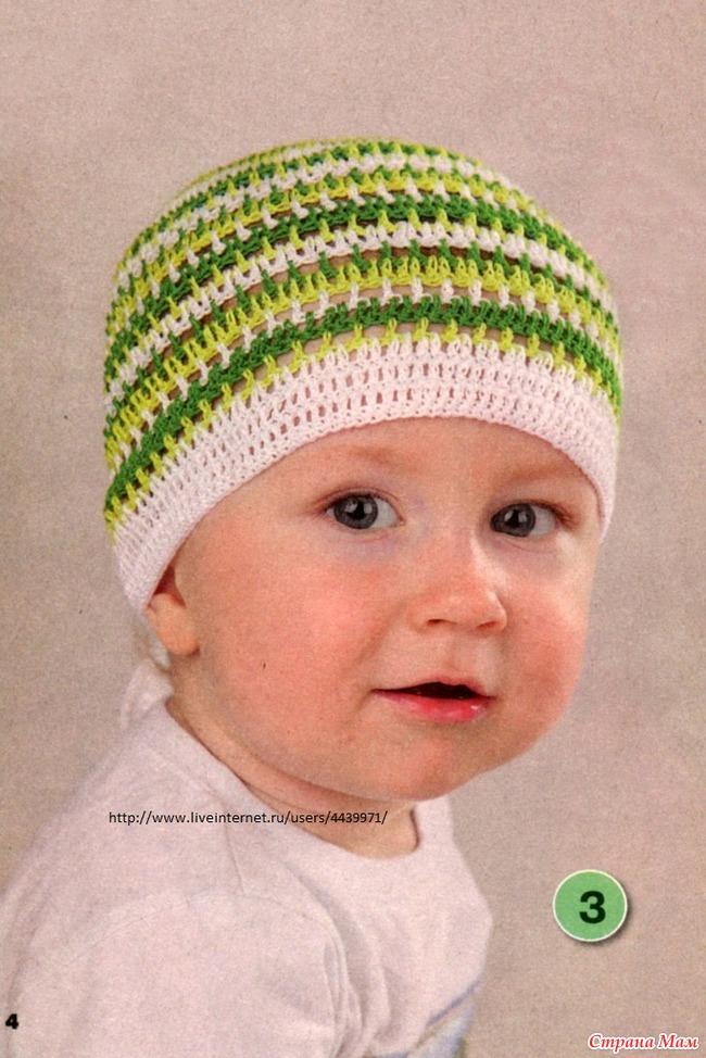 Вяжем крючком летнюю шапочку для мальчика