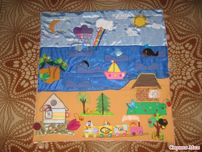 Выкройка развивающий коврик для детей своими руками 64