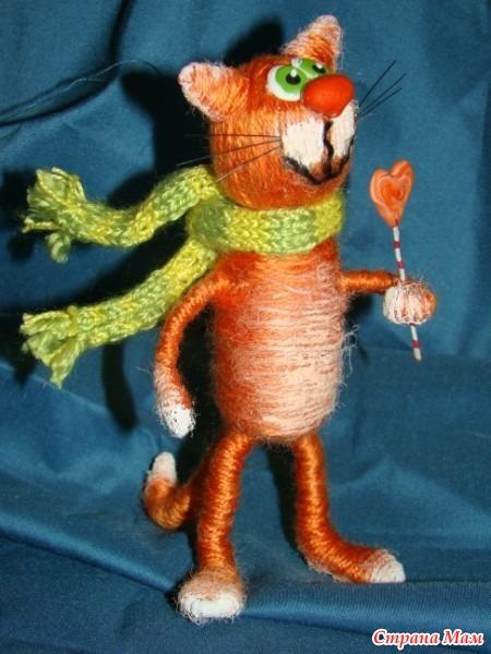 Кошка своими руками из ниток