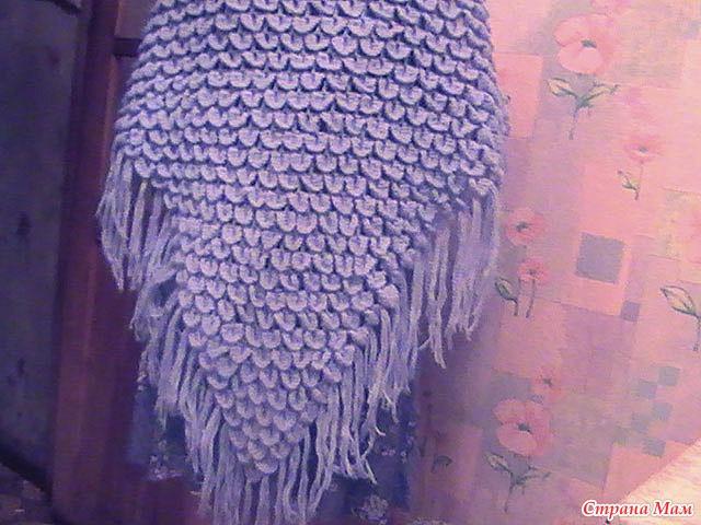 Вязание крючком схемы чешуйки