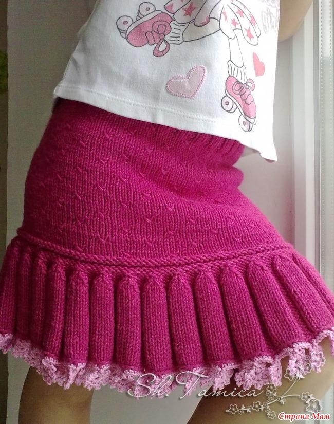 Вязание свитера с новогодним