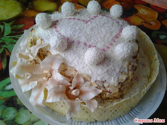 Торт рафаэлло мягкий рецепт с фото