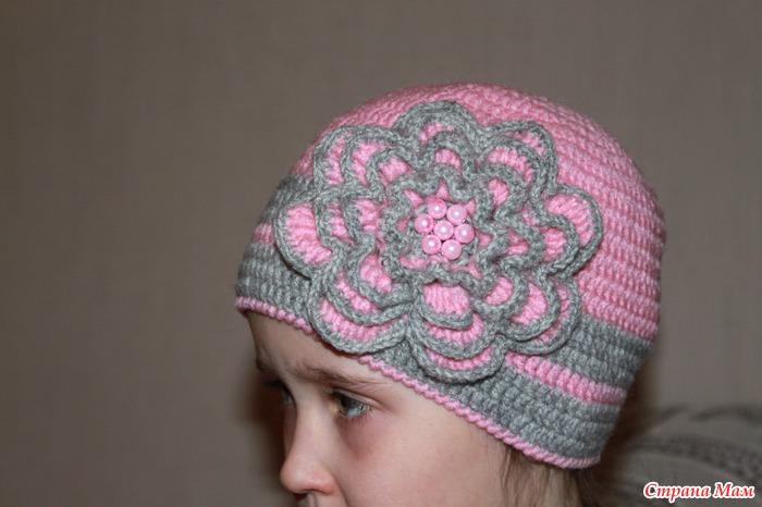 Зимняя женская шапка крючком.