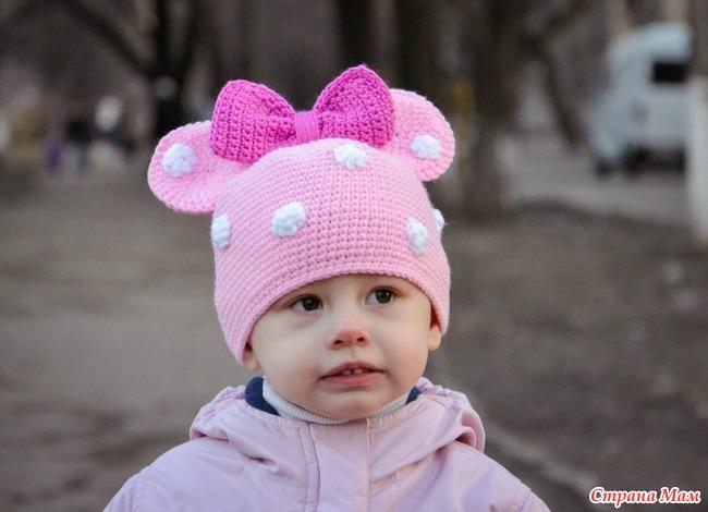 Фото вязанных шапочек для девочек