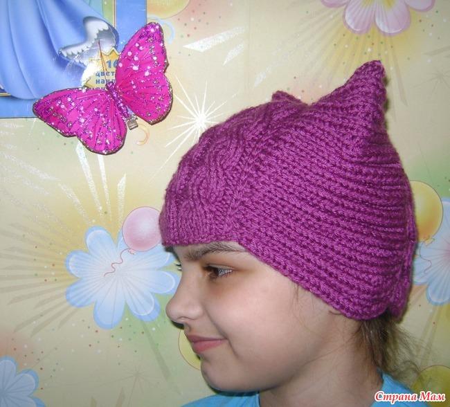 Вяжем шапочку для девочки подростка