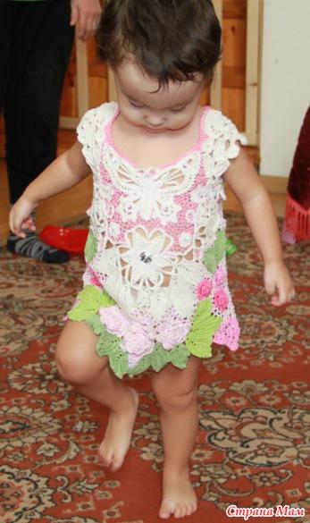 Вязаные Детские Платье