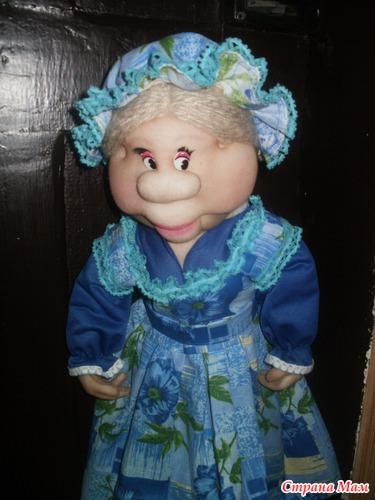 Кукла из капрона но первая пакетница