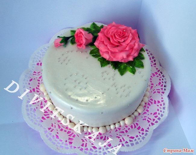 Как сделать розочки на торт фото