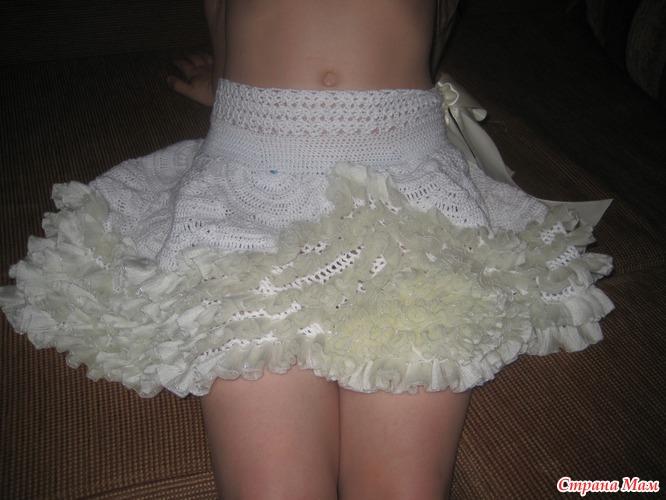 Схема вязания платья с рюшами