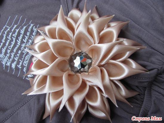 Резинки для волос из лент атласных лент