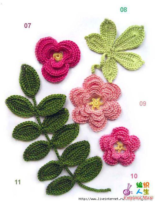 книга по вязания цветов,