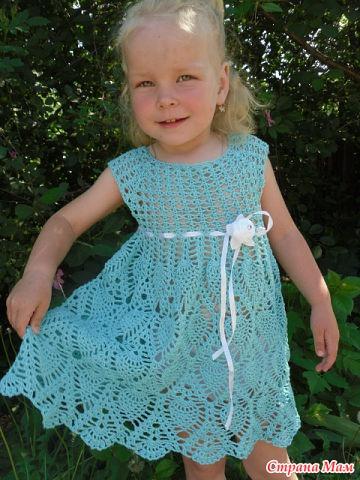 Платье для девочки ананасик