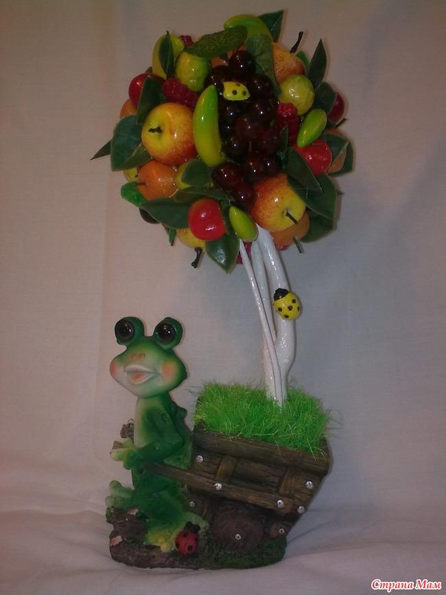 Дерево из фруктов своими руками