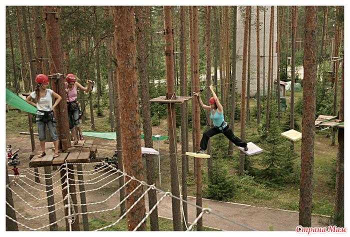 Как сделать в лесу верёвку