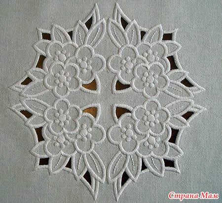 Вышивки ришелье на швейной машине