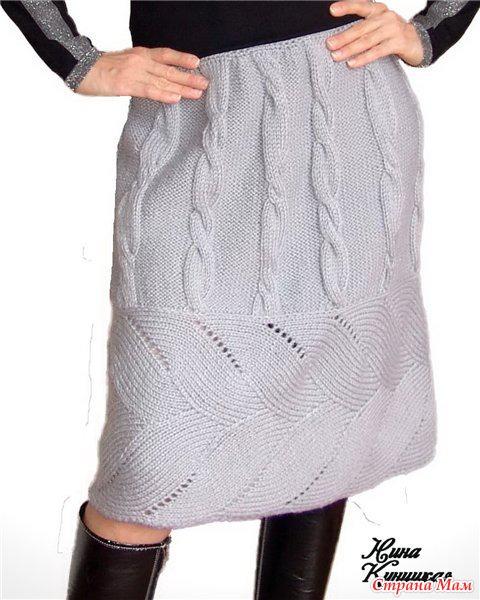 100 моделей вязаных юбок