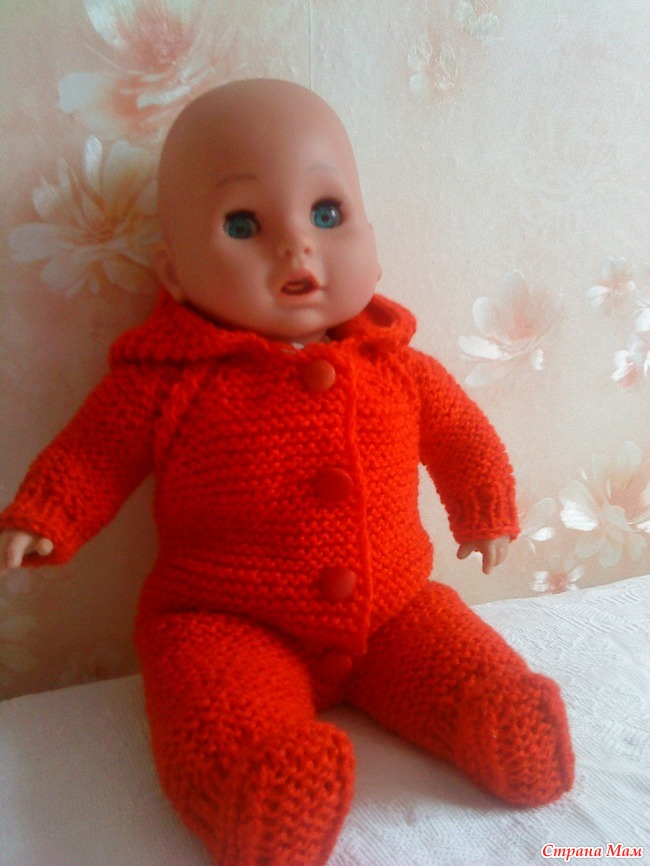 Вязание крючком штанишек для кукол 38