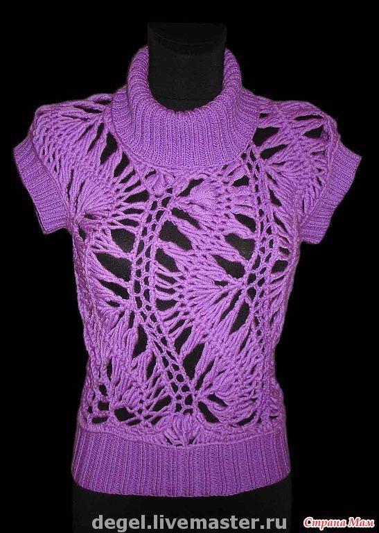 Вязание жилеты и свитера вилкой