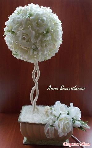 Поделки к свадьбе топиарий