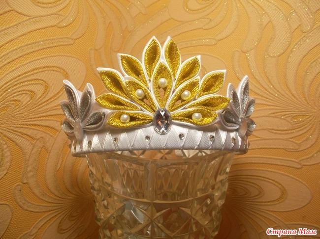 Канзаши. Корона для маленькой принцессы. Мастер-класс 79