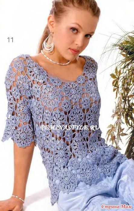 Шелковая блузка, связанная