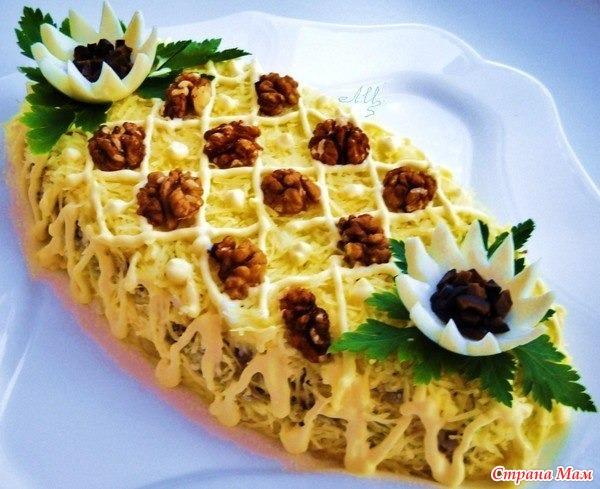 праздничные рецепты салатов фотографиями