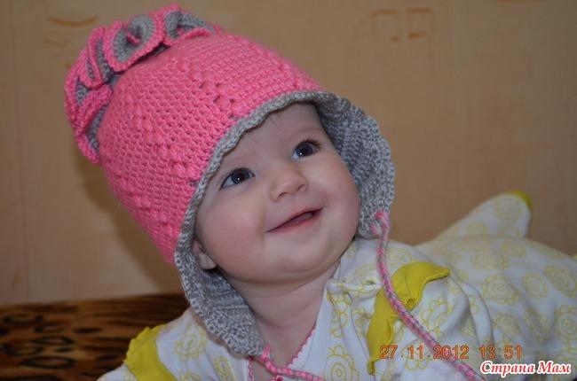 Как связать шапочку спицами для девочки 4-5 лет