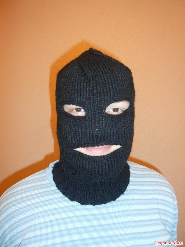 Вязание мужская шапка маска 59