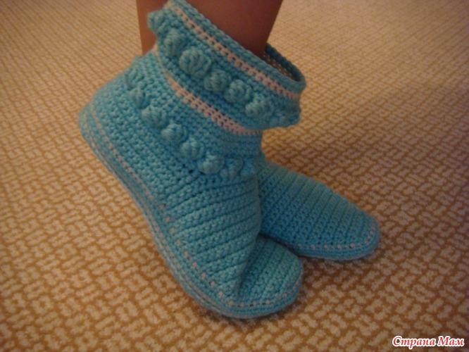 вязаные носочки-сапожки