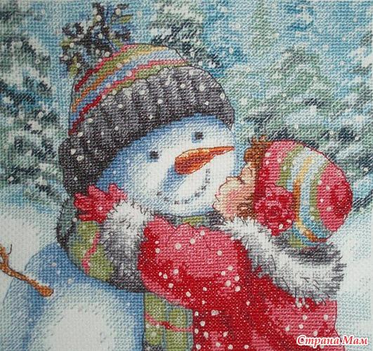 """Dimensions 08833  """"Поцелуй для снеговика """" ."""