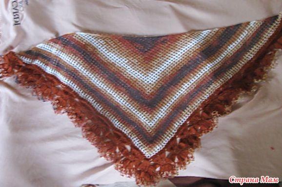 Крючок вязание шаль мк 111