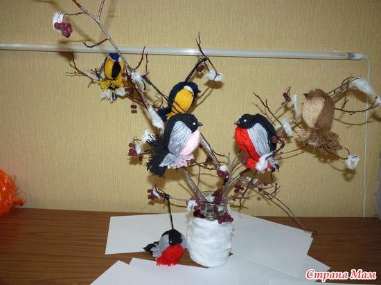 Поделка птицы нашего края