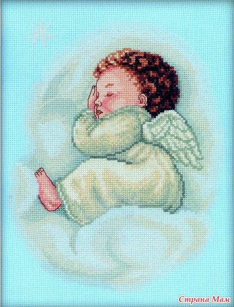 Вышивка спящий ангел схема