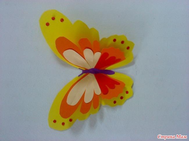 Бабочки с цветной бумаги своими руками 69