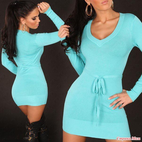 Трикотажные платья фото туники