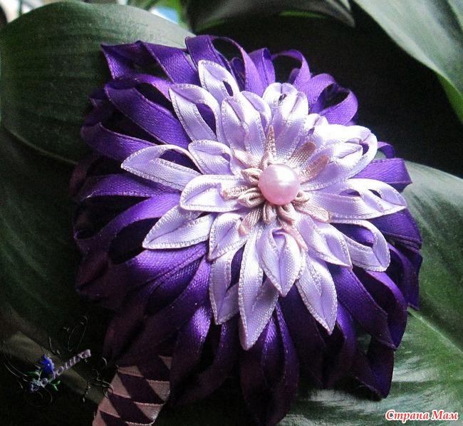 Цветы из тонкой атласных лент своими руками