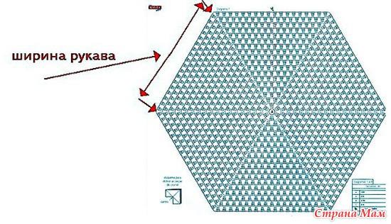 Кофта из двух шестигранников