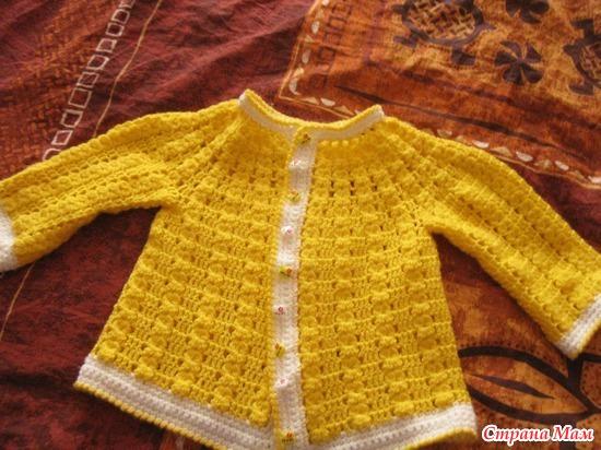 Вязание для маленьких кофточки для девочек