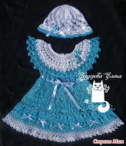 платье вязанное крючком для
