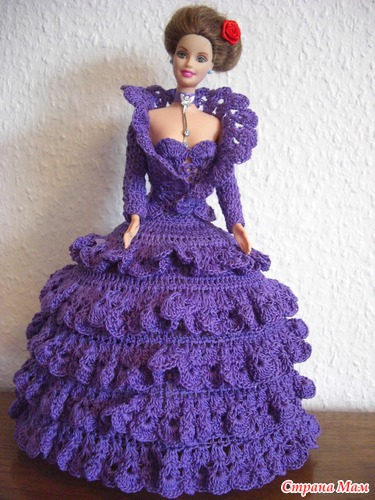Вязанное Платье Для Барби 15